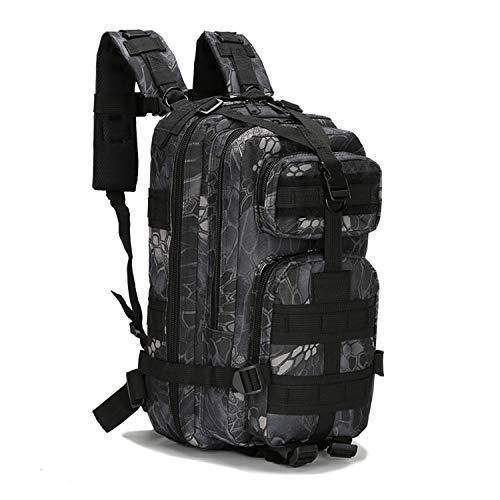 PULUSI 20-35L Militare Tactical Zaino Army Assault Pack Molle Bug Out Bag Zaino Zaini per Outdoor Escursionismo, Campeggio Arrampicata (43,2 x 24,1 x 21,6 cm, Uomo, Blu scuro, 40*20cm