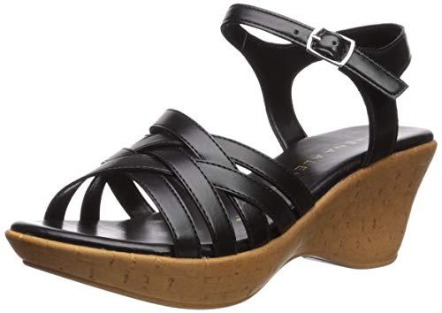 Athena Alexander Women's CASTLEWALK Wedge Sandal, Black, 7 M US