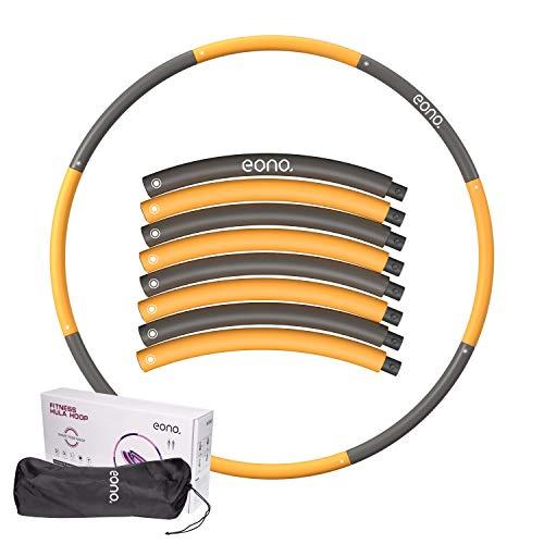 Amazon Brand - Eono - Hula Hoop Reifen Erwachsene Kinder mit Schaumstoff, Fitness Hula Hoop zur Gewichtsreduktion, 8 Segmente Abnehmbarer Hoola Hoop Reifen Geeignet Für Fitness/Sport 1.2kg 1.8kg