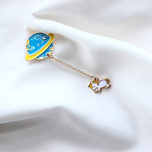 Broche de la cadena de decoración Planet broche de estudiante de dibujos animados lindo bolsa de accesorios broche de mujeres Divisa creativo nueva regalos de cumpleaños del estilo de joyería,Unicorn