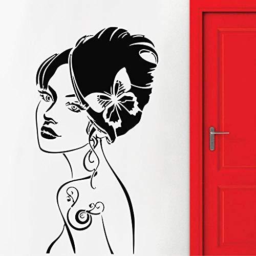 Hermosa mujer etiqueta de la pared Decoración del hogar Dormitorio Vinilo Sala de estar Interior na Calcomanías Baño Murales Murales A prueba de Dwater a prueba de agua-139x84cm