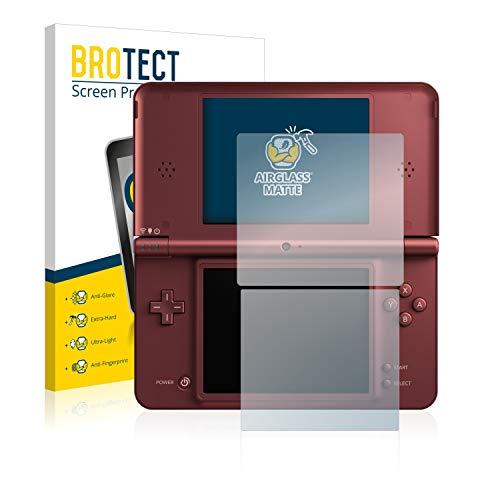 BROTECT Entspiegelungs-Panzerglasfolie kompatibel mit Nintendo DSi XL - Anti-Reflex Panzerglas Schutz-Folie Matt