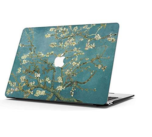 AOGGY Custodia MacBook Air 13 pollici 2020 2019 2018 Versione A2337 M1/A2179/A1932, Colorful Plastic Cover Cover Rigida Case per 2020 MacBook Air 13 pollici con Touch ID - Fiore di Prugna
