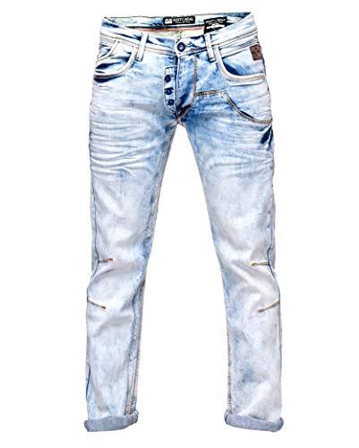 Rusty Neal Light Blue Herren Jeans Hose Jeanshose 'DIE ETWAS ANDERE Jeans' Regular Fit -31, Hosengröße:32/32
