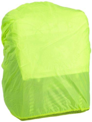 Hama Regenschutz- und Sicherheitshülle (für Schulranzen und Rucksäcke, Regenhüllle in auffälliger Signalfarbe, mit Gummizug, mit Aufbewahrungstasche) gelb (1, 1x Regenhülle)