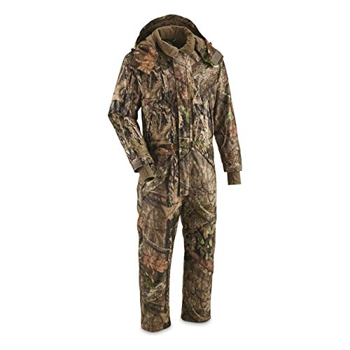 Guide Gear Men's Guide Dry Waterproof Insulated Hunting Coveralls, Mossy Oak Break-Up Country, XL