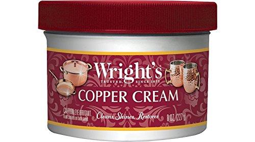 Weiman Wright's - Crema limpiadora de artículos cobre y bronce, 236,6 ml, 8 Oz Single, 8 fl oz (Pack of 1)
