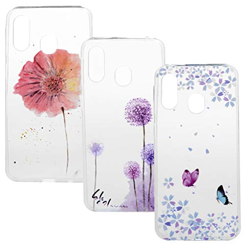 A40 Handyhülle Durchsichtige Handytasche Kompatible für Samsung Galaxy A40 Hülle Silikon Case Cover Transparent Tasche Dünn Schutzhülle Malen Muster Mädchen Skin Soft Schale Bumper*3 Silikonhüllen-5