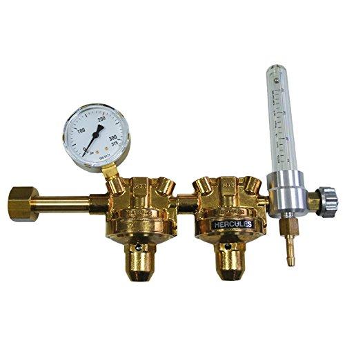HERCULES Druckminderer Argon/CO2 Druckventil Druckregler MIG WIG zweistufig