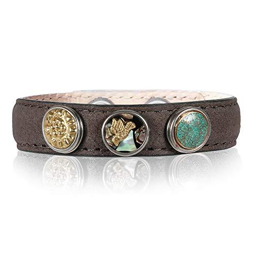 Noosa petite Armband wrap classic skinny braun, Größe:S