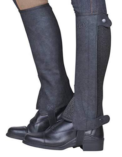 HKM 6523 Economic Chaps d'équitation pour Adulte Taille 4-12 Unisexe XS à XL Pantalon 9100 Noir S-32