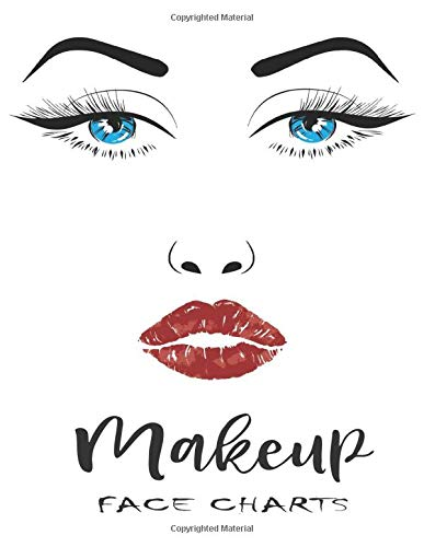 Makeup Face ChartS: Workbook Paper Practice Face Charts for Makeup Artists