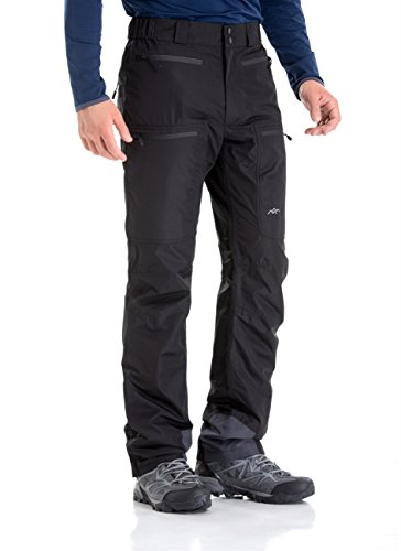 TRAILSIDE SUPPLY CO. Mens-Ski-Snow-Snowboard-Pants, Wind/Waterproof, Insulated, M, Black