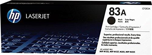 HP 83A CF283A Cartuccia Toner Originale, Compatibile con Stampanti LaserJet Pro MFP 125nw, 125°, 127fw, MFP M225dn, M225dw, Pro M201n e M201dw, Nero