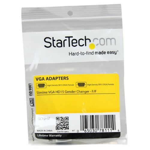 StarTech.com Slimline VGA HD15 Gender Changer - F/F - HD15 gender changer - VGA coupler - VGA gender changer (GC15HSF)