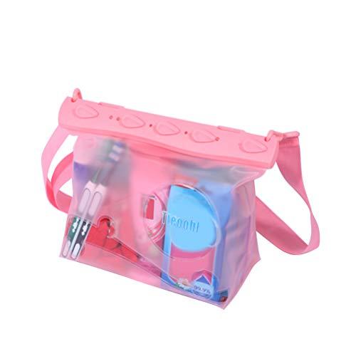 LIOOBO Bolsa Impermeable con Correa Ajustable para la Cintura - Mantenga su teléfono, con la Licencia de la Cartera, Segura y Seca - Bolsa Seca Nadar con Snorkel (Rosa/Pequeño)