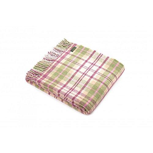 Tweedmill Tagesdecke/Plaid 100% Wolle Pure Sofa Decke–rosa Cottage