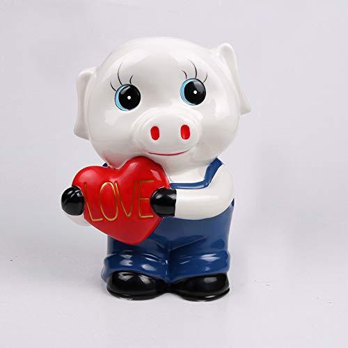 WXK keramische piggy bank munthouder Money Box Pig geschenken voor kindervrienden, portemonnee ook ornamenten voor kamerdecoraties