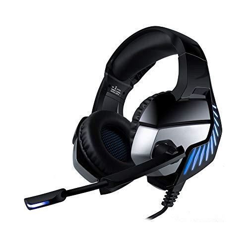 LXFTK Casque d'écoute, Casque Bluetooth, réduction du Bruit, Jeux de Sport électronique, vidéo, Musique, Ordinateur de Bureau Universel avec Casque-Blue