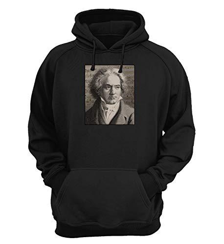 Ludwig Van Beethoven Classic Music Master_KK018410 Hoodie Hooded Sweater Sweatshirt Christmas Gift Unisex Cotton - Black