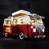 Matuke Matuke - Juego de luces LED para bricolaje, bloques de construcción, compatible con Lego Volkswagen T1 Camper Van 10220, funciona con pilas, modelo no incluido