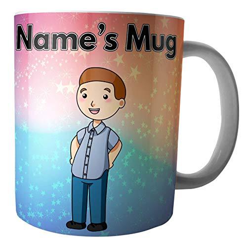 Cartoon Ken taza–personalizado regalo–añadir cualquier nombre