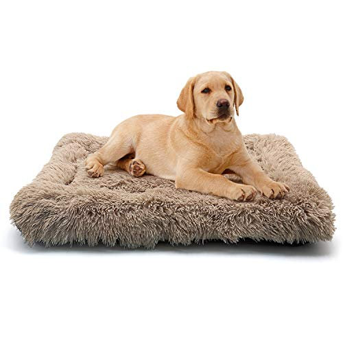 ANWA Dog Bed Medium Size Dogs, Washable Dog Crate Bed Cushion, Dog Crate Pad Medium Dogs 30 INCH Beds