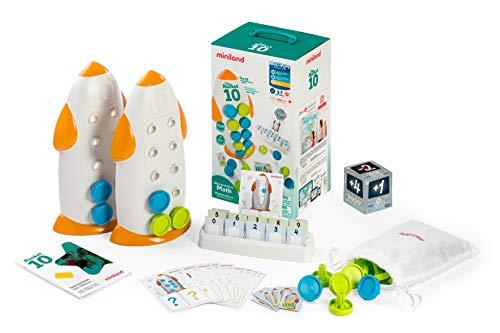 Miniland- The Rocket 10 Divertido Juego para el Aprendizaje de los Conceptos niños de 3 a 7 años, matemática manipulativa, método ABN (31871)
