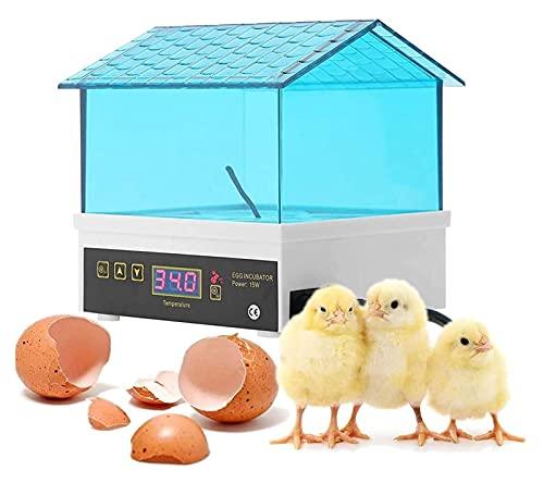 YQQQQ Incubadora de Huevos, Incubadora de Huevos con Monitor de Humedad Y Control de Temperatura (Size : 12x12x13cm)