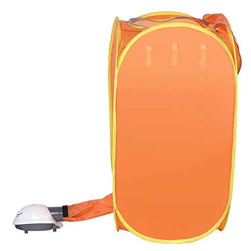 Secadora de Ropa eléctrica, 800W Bolsa de Secado de Ropa portátil para el hogar Mini Secadora eléctrica Plegable Máquina de Secado de Ropa Naranja(Enchufe Estadounidense 110V)
