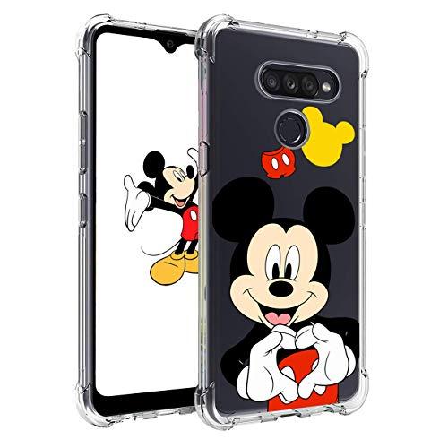 Nico Custodia per LG K41S,LG K51S, Cartone Animato Carino Divertente Moda, TPU Ultra Sottile Protettivo Antiurto Telefono Cover per LG K41S,LG K51S (Heart Mouse)