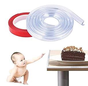 Phiraggit Protector para Esquinas y Bordes, anticolisión Tira para Seguridad Bebés y niños - Mas Adhesivo Adicional,Cobertura Total de 6.1M, | Kit de la Seguridad del niño en la Casa |