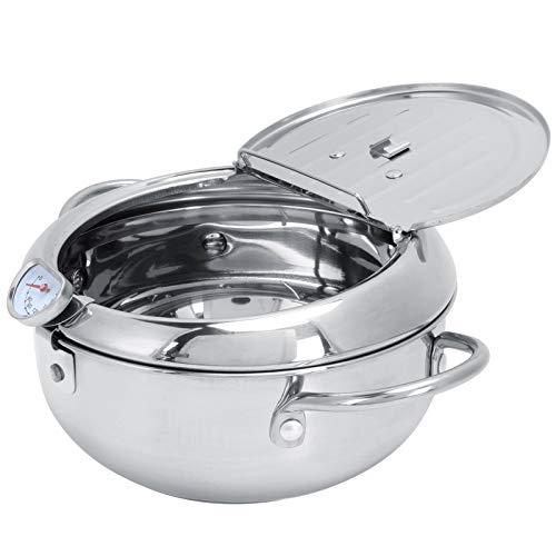 Sartén Profunda, Acero Inoxidable Multiusos De La Freidora De La Cocina para La Cocina para El Restaurante(Bandeja de Aceite pequeña-2.2L (20CM))