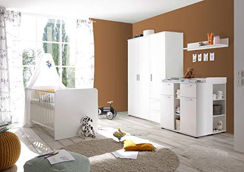 Ticaa Babyzimmer Lotta 4-teilig Weiß