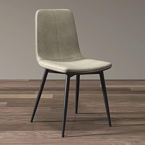 ZCXBHD PU-lederen eetstoelen met metalen poten en rugleuningen, luxe vintage keukenstoelen, bureaustoelen, badstoelen voor restaurant, hotel, vergaderruimte