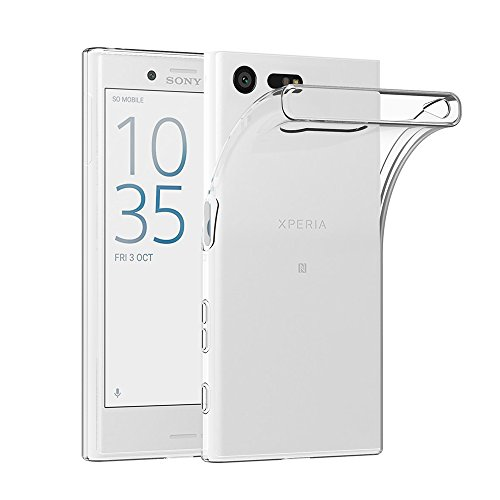 AICEK Sony Xperia X Compact Hülle, Transparent Silikon Schutzhülle für Sony Xperia X Compact Hülle Ultra Crystal Clear Durchsichtige TPU Bumper Sony Xperia X Compact Handyhülle