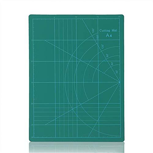 YIJIAHUI Esterilla de corte A4 de doble cara de PVC para manualidades, scrapbooking board, acolchado, patchwork, tela, papel, herramientas de corte para ingeniero, para tela, papel, vinilo, plástico