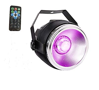 Par LED stage light,TOM 30W RGB COB par LED wash lights with polished aluminum reflector plus small dome len with remote controllerc stage lights for wedding/party/theater