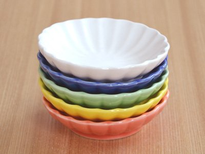 テーブルウェアイースト『豆皿5色セット菊の花(SET-167)』