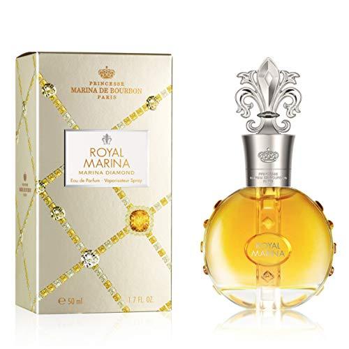 Royal Marina Diamond by Princesse Marina de Bourbon | Eau de Parfum Spray | Fragrance for Women | Fruity, Oriental, and Musky Scent with Notes of Vanilla and Tonka Bean | 50 mL / 1.7 fl oz