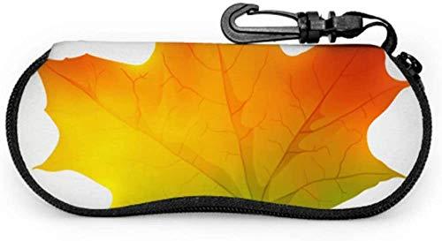 Glamorous Dazzling Color Maple Leaf Eyeglass Case For Women Childrens Eyeglass Case Light Portable Neoprene Zipper Soft Case Multi Sunglass Case
