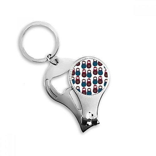 DIYthinker Rusland Jongens Meisjes Pop Russische Matryoshka Sleutelhanger Ring Teen Nagel Clipper Cutter Schaar Gereedschap Kit Flesopener Gift