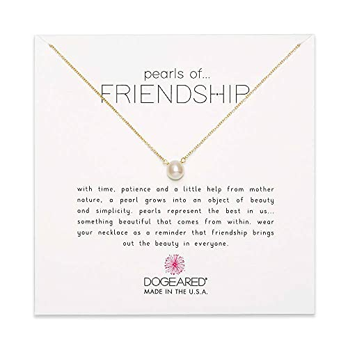 Dogeared Cultured-Freshwater Pearls of Friendship Necklace