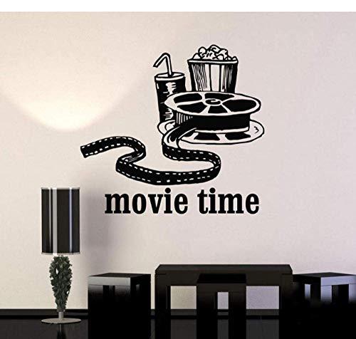 Vinyl Wandtattoo Filme Kino Film Popcorn Room Decor Aufkleber Wandbild 46X42 Cm
