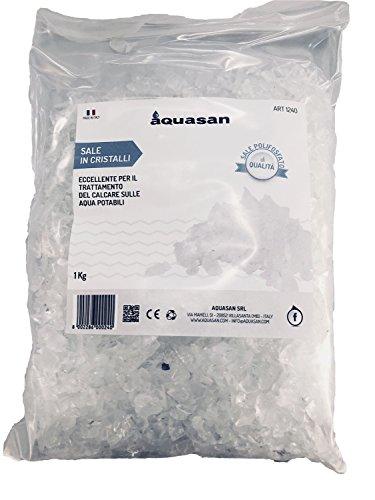 Aquasan 1240 Sale Polifosfato Cristalli in Sacchetto, Bianco, 1 kg