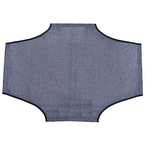 Leopet Toile de rechange pour chien en tissu Oxford imperméable, anti-rayures et haute résistance (55 x 90 cm, gris métallisé)
