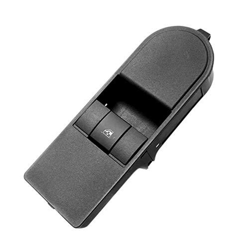CMEI Interruptor de control de ventana eléctrico para Opel Vauxhall Astra H Zafira B 2004-2016 13209204 13228699 13228709 (color negro)