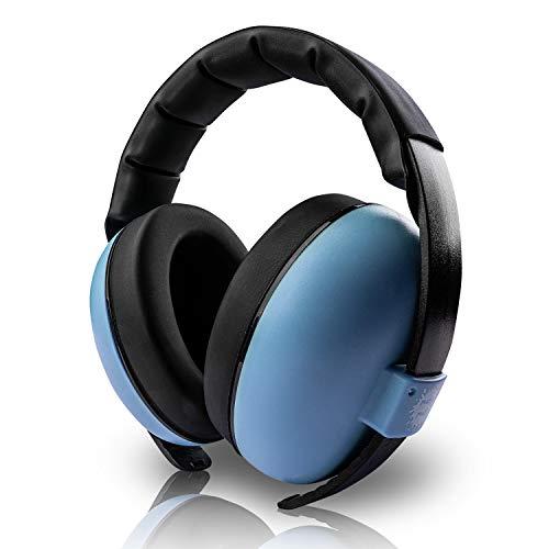 MALA MATI® Baby Gehörschutz - angenehmes Tragegefühl - [3-36] Monate - leicht [190g] - Lärmschutz für Babys mit gepolsterten Ohrenkissen - Gehörschutz Neugeborene Lärm bis NRR21 Dezibel (Blau)