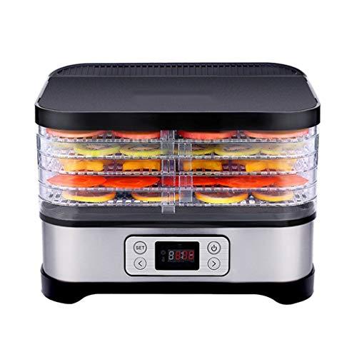 LHZHG Deshidratador de Alimentos, Desecadora de Fruta con 5 Bandejas Ajustables, Pantalla LCD, Temperatura Regulable y Temporizador, para Verduras Carne Flores, sin BPA