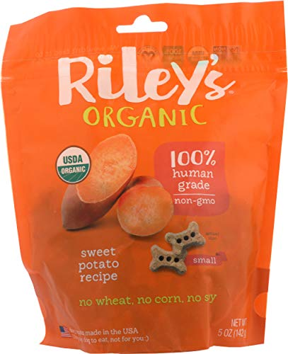Riley's Organics - Sweet Potato - 5 oz Small Biscuits - Human Grade Organic...